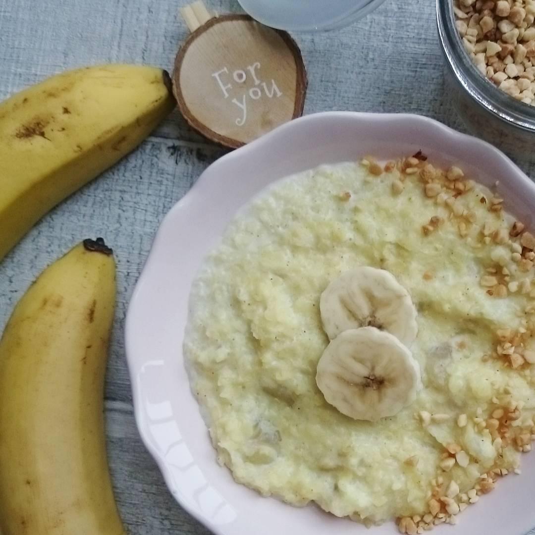 Bananowy budyń ryżowy