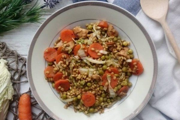 Kaszotto czli zdrowy i szybki obiad z kaszy pęczak