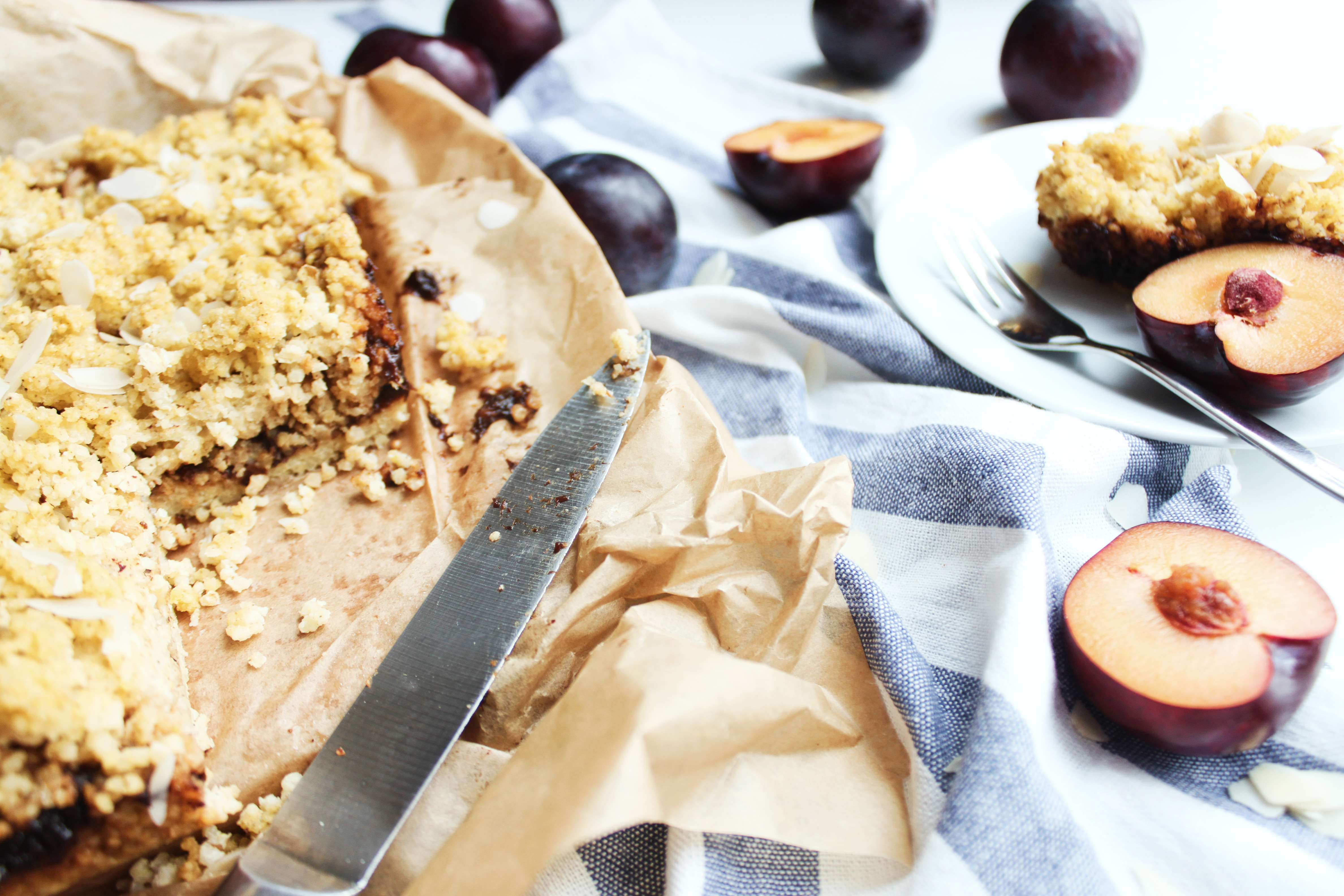 przepis na szybkie i proste fit ciasto jaglane
