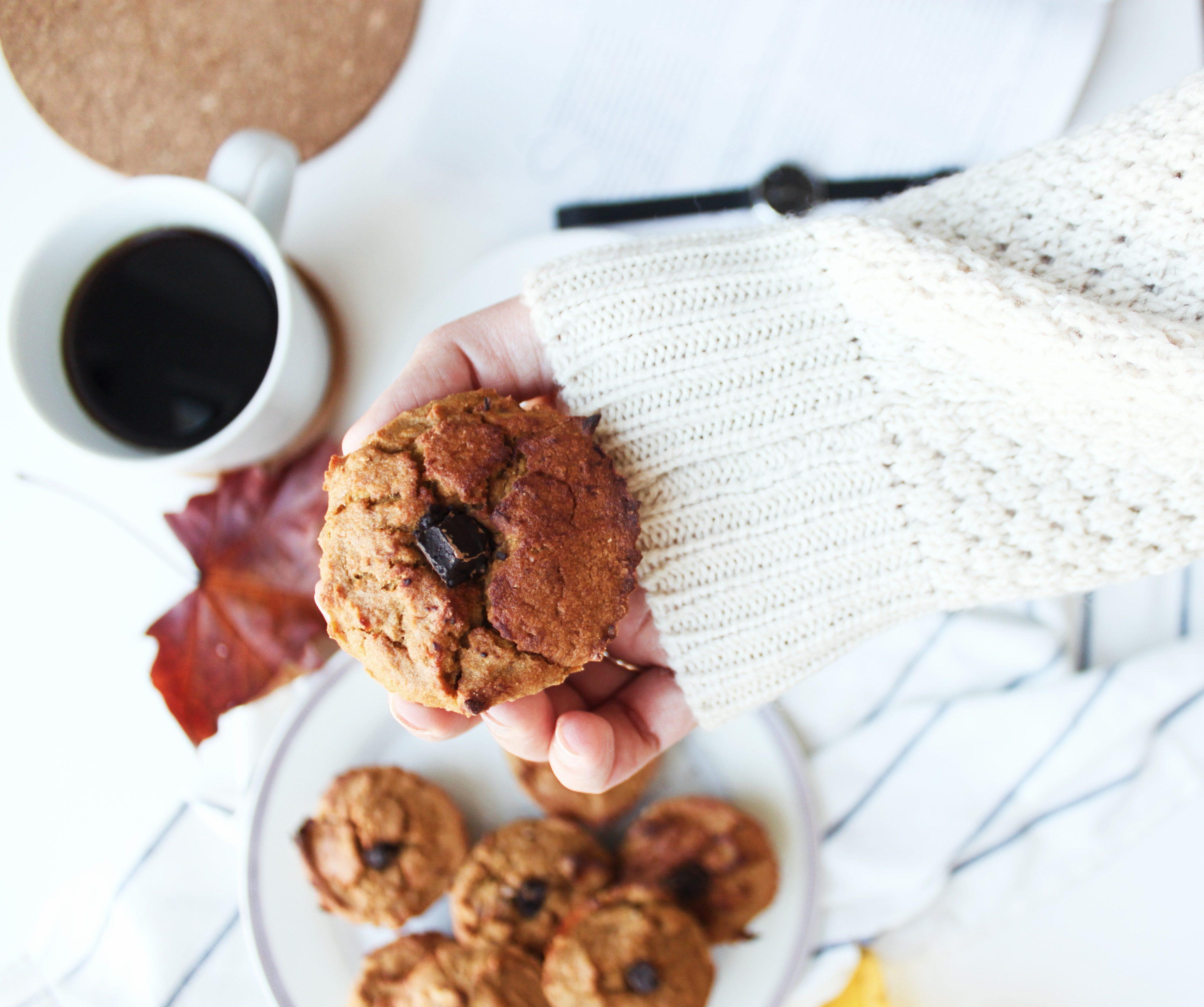 przepis na szybkie bezglutenowe muffiny dyniowe