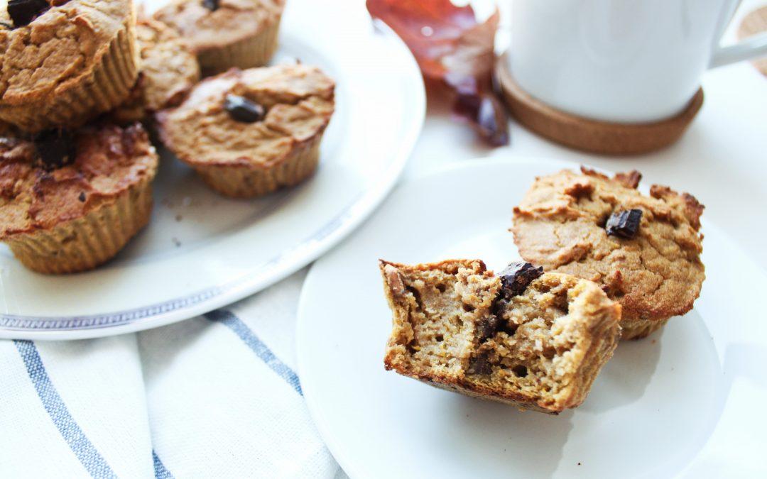 Bezglutenowe muffiny dyniowe z orzechami i czekoladą